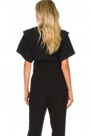 IRO | T-shirt met schouderdetails Belly | zwart  | Afbeelding 5