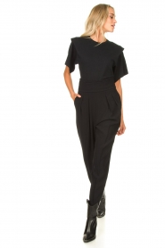 IRO | T-shirt with shoulder details Belly | black  | Picture 3