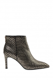 Sofie Schnoor    Leather ankle boots with golden details Norah   black    Picture 1