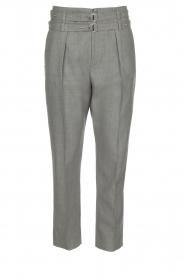 IRO | Pantalon met twee riemen Lana | Grijs  | Afbeelding 1