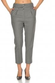 IRO | Pantalon met twee riemen Lana | Grijs  | Afbeelding 3