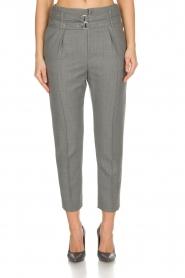 IRO | Pantalon met twee riemen Lana | Grijs  | Afbeelding 2