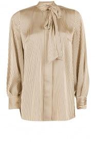By Malene Birger | Pussybow blouse Aluda | ecru/zwart  | Afbeelding 1
