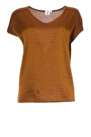 Knit-ted | Shimmering t-shirt Milou | bronze  | Picture 1