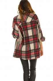 IRO    Checkered coat with fringes Cocha   red    Picture 6