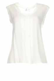 Knit-ted |  Top with lace Hanna | white  | Picture 1
