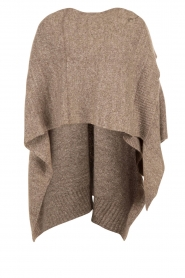 Knit-ted | Poncho Bernou | bruin  | Afbeelding 1