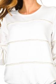Liu Jo |  Sweater with pearls Stripe | white  | Picture 7
