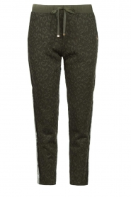 Liu Jo |  Animal printed pants Forrina | green  | Picture 1