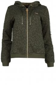 Liu Jo | Vest met luipaardprint Forrina | groen  | Afbeelding 1