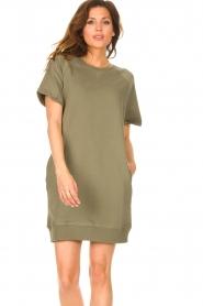 Blaumax |  Sweater dress Queens | green  | Picture 4