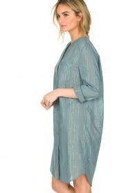 Lolly's Laundry | Jurk Boa Long | blauw  | Afbeelding 5