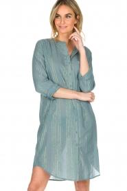 Lolly's Laundry | Jurk Boa Long | blauw  | Afbeelding 4