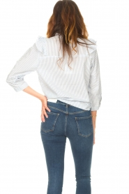 Lolly's Laundry |  Blouse with ruffles Hanni | light blue  | Picture 7