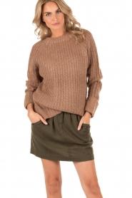 Knit-ted | Grofgebreide Daphne | bruin  | Afbeelding 2