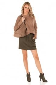 Knit-ted | Grofgebreide Daphne | bruin  | Afbeelding 3