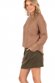 Knit-ted | Grofgebreide Daphne | bruin  | Afbeelding 4
