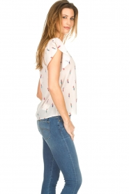 Knit-ted |  Top with volant sleeves Heather | natural   | Picture 5