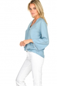 Knit-ted |  Denim top Hanneke | blue  | Picture 4