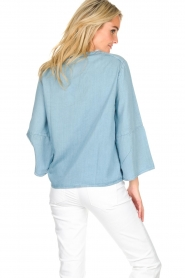 Knit-ted |  Denim top Hanneke | blue  | Picture 5