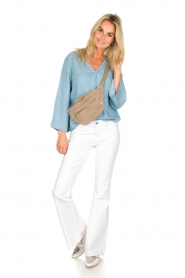 Knit-ted |  Denim top Hanneke | blue  | Picture 3