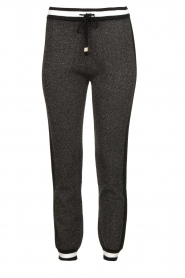 Liu Jo |  Sweatpants with lurex details Coraly | grey  | Picture 1