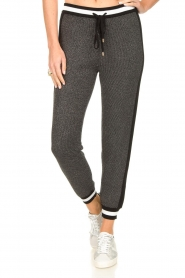 Liu Jo |  Sweatpants with lurex details Coraly | grey  | Picture 4