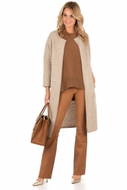 Knit-ted | Vest Xandra | camel  | Afbeelding 3