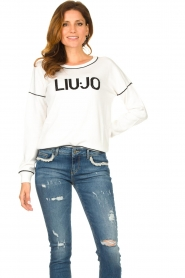 Liu Jo    Logo sweater Deluxe   white    Picture 2