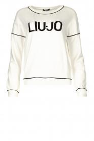 Liu Jo    Logo sweater Deluxe   white    Picture 1