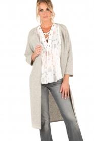 Knit-ted | Vest Xandra | grijs  | Afbeelding 2