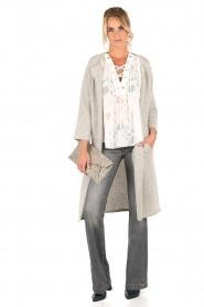 Knit-ted | Vest Xandra | grijs  | Afbeelding 3