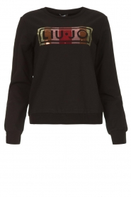 Liu Jo |  Logo sweater Colorata | black  | Picture 1