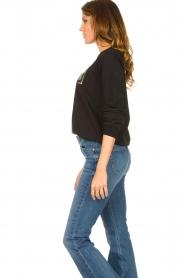 Liu Jo |  Logo sweater Colorata | black  | Picture 5