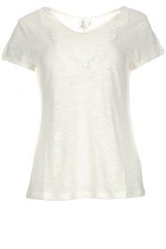 Knit-ted |  Top with crocheted detail Hilde | white  | Picture 1