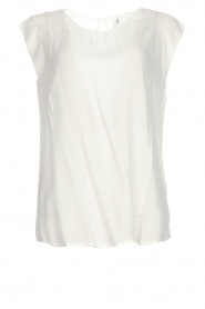 Knit-ted |  Top with tiny pleats Fay | white  | Picture 1