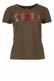 Liu Jo |  T-shirt with logo Colorata | green  | Picture 1