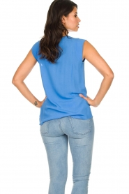 Knit-ted |  Top with tiny pleats Fay | blue  | Picture 6