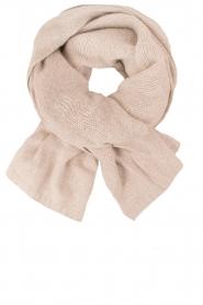Knit-ted | Fijngebreide sjaal Sam | naturel  | Afbeelding 1