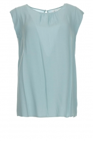 Knit-ted |  Top with tiny pleats Fay | mint green  | Picture 1
