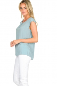 Knit-ted |  Top with tiny pleats Fay | mint green  | Picture 4