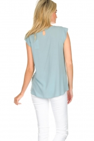 Knit-ted |  Top with tiny pleats Fay | mint green  | Picture 5