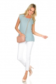 Knit-ted |  Top with tiny pleats Fay | mint green  | Picture 3