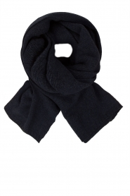 Knit-ted |  Fine knitted scarf Sam | dark blue  | Picture 1