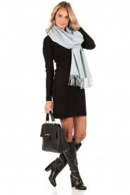 Knit-ted | Fijngebreide jurk Lot | zwart  | Afbeelding 3
