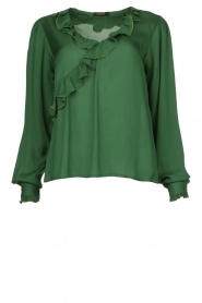 Fracomina |  Blouse with ruffles Mary | green  | Picture 1