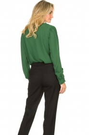 Fracomina |  Blouse with ruffles Mary | green  | Picture 6
