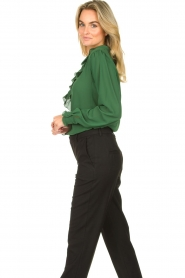 Fracomina |  Blouse with ruffles Mary | green  | Picture 5
