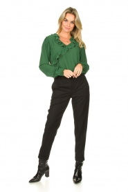 Fracomina |  Blouse with ruffles Mary | green  | Picture 3