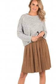 Knit-ted | Gebreide rok Jolie | choco  | Afbeelding 2